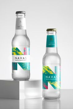 Founded in Cornwall, Navas create mixers to pair with the incredible spirits produced in the county, using natural botanicals & Cornish Spring Water. Water Packaging, Glass Packaging, Beverage Packaging, Tonic Water Brands, Bottled Water Brands, Non Alcoholic Drinks Bottles, Paper Cup Design, Kombucha, Juice Branding