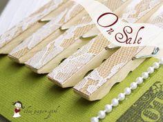 #DIY #wedding #lace #clothespin