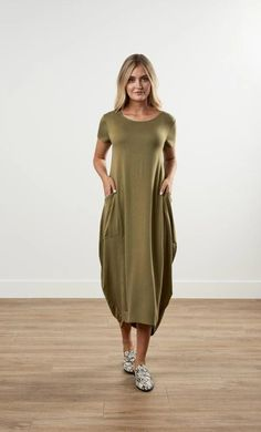 Cocoon Dress (Olive)