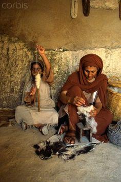 Spinning Wool at Nazareth Village