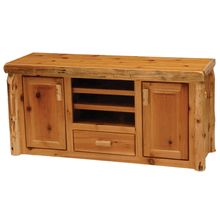 We just shipped one of these handcrafted White Cedar Log Entertainment Centers to a customer in Harrisburg, PA