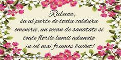 Raluca La multi ani! - Felicitari de la multi ani pentru Raluca - mesajeurarifelicitari.com Happy Birthday Quotes, Nasa, Flower Arrangements, Birthdays, Lily, Place Card Holders, Bride, Instagram, 8 Martie