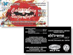 Cala a Boca e Beija Logo - Extreme (Convite)