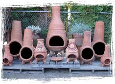 Baja Chimney - Little Baja - Finest Terra Cotta Fireplace Outdoor Stove, Outdoor Fire, Chimnea Outdoor, Clay Chiminea, Mexican Garden, Outdoor Rooms, Outdoor Decor, Terracota, Sustainable Living