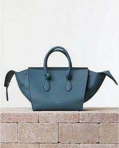 Celine Blue Denim Tie Tote Bag - Summer 2014