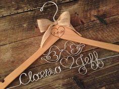 Bridal Hanger / LOVE BIRDS Hanger / Love Birds Wedding / Bride Hanger / Rustic Wedding Hanger / Personalized Hanger / Wedding Hanger on Etsy, $40.00