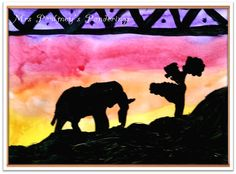 Silhouette Art - I do this every year, but I like the idea from this blog.