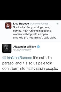 Alex getting all sassy with Lisa, haha.