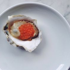 "586 Likes, 27 Comments - estela (@estelanyc) on Instagram: ""Oyster with trout roe. This works."""
