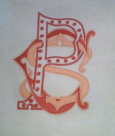 Custom hand drawn monograms @Gramercy Home #gramercy #monograms