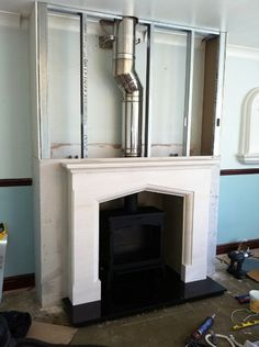 Bring chimney out with off tube
