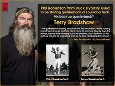 Terry Bradshaw was Phil Robertson's backup quarterback!