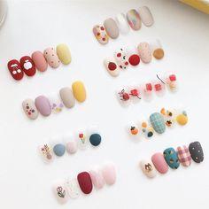 Cute Nail Art, Cute Acrylic Nails, Cute Nails, Gel Nails, Korean Nail Art, Korean Nails, Stylish Nails, Trendy Nails, Art Deco Nails