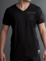 Black on Black V Neck by HEADRUSH. Extreme Sports and MMA