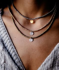 Juxtaposition Set of 3 Necklaces - Handmade  by myfashionfruit.com