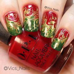 Christmas is over, christmas nails, nail art videos, nail tutorials, video tutorials Nail Polish Designs, Nail Art Designs, Cute Nails, Pretty Nails, Manicure Y Pedicure, Nail Art Videos, Short Nail Designs, Nail Tutorials, Video Tutorials