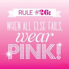 When all else fails, wear PINK! 👍👍 *You said it's the worst colour 😊 Pink Color, Pink Purple, Hot Pink, Pink Love, Pretty In Pink, Pink Quotes, I Believe In Pink, Pink Panthers, Everything Pink