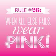 When all else fails, wear PINK! Pink Color, Pink Purple, Go Pink, Pink Love, Magenta, Pink Nation, Pink Princess, My Favorite Color, 50 Shades