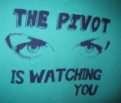 Pivot is Watching You   Roller Derby Tshirt