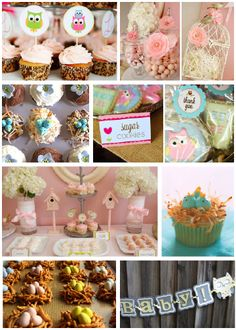 owl themed baby shower | ... try a woodland owl theme - think faux bois, browns and pops of green