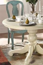 I'd want to paint the chairs in a darker blue, but otherwise this is what I want!