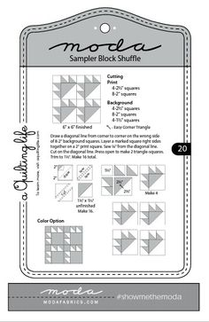 Moda Sampler Block Shuffle  -  Block # 20
