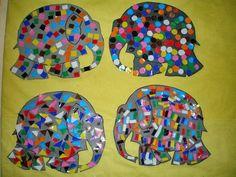 παιχνιδοκαμώματα στου νηπ/γειου τα δρώμενα: ο Έλμερ .......και τα σχήματα !!! Preschool Art Projects, Preschool Worksheets, Book Activities, Preschool Activities, Eric Carle, Elmer The Elephants, New Project Ideas, School Displays, Math Art