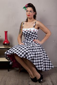 vintage inspired pin-up dress by ticci rockabilly clothing