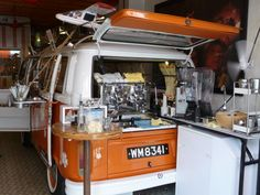 VW Bus coffee shop! too cool