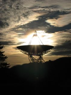 1) A magnificent photo of a sunset seen through the Green Bank Telescope, located in Green Bank, WV.