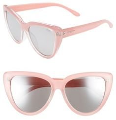 a2906c303dc02 Quay Stray Cat 58mm Mirrored Cat Eye Sunglasses. Lunettes De Soleil ...