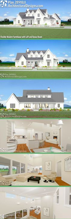 Architectural Designs House Plan 28918JJ is a country farmhouse with 4 beds and just over 2,600 sqft of heated living space PLUS an optional finished bonus room over the garage. Ready when you are. Where do YOU want to build? #28918JJ #adhouseplans #architecturaldesigns #houseplan #architecture #newhome #newconstruction #newhouse #homedesign #dreamhome #dreamhouse #homeplan #architecture #architect #housegoals #countryhouse #farmhousestyle #farmhouse #modernfarmhouse