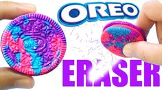 DIY GALAXY OREO ERASER | Easy DIY School Supplies & Hot Glue Oreo Mold                                                                                                                                                      More