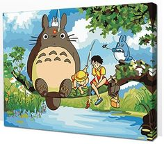 Kids' Paint By Number Kits - Diy oil painting paint by number kit My Neighbor Totoro 1620 inch *** Check out this great product.