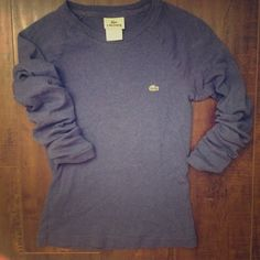 Lacoste | Navy Long Sleeved Shirt Super comfy Lacoste shirt. Excellent condition. Lacoste Tops Tees - Long Sleeve