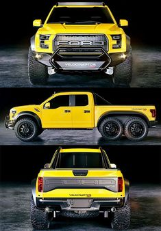 The HP 2018 Hennessey Velociraptor Is Pure Aggression On Wheels - All Six Of Them - ThrottleXtreme 4x4 Trucks, Custom Trucks, Lifted Trucks, Cool Trucks, Cool Cars, Lifted Ford, Ford Raptor, Ford Velociraptor, Dream Cars
