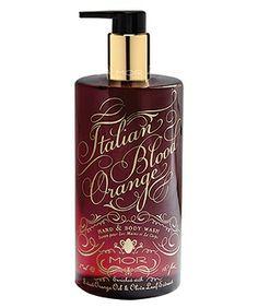 Italian Blood Orange Hand & Body Wash - love MOR's packaging