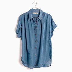 Madewell Central Shirt In Bright Indigo