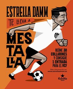 36bb267b46c Illustration for  estrelladamm promotional bottle to get  valenciacf free  tickets Agenc Futbol Femenino