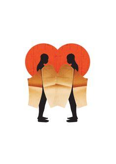 """Saatchi Online Artist HORMAZD G NARIELWALLA; Collage, """"Anani in Love"""" #art #HormazdNarielwalla"""