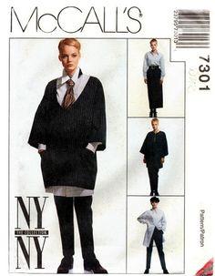 McCall's 7301 Bohemian Artist Tunic, Shirt, Skirt & Pants 1994