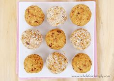 Carrot Cake Bliss Balls ~ Wholefood Simply