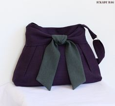 New Purple Purse Hemp Cotton Messenger Bag  Cross by ickadybag, $36.00