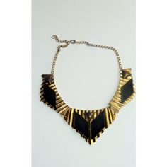 16 Braunton Gold Black Egyptian Neith Collar Necklace (21 CAD) ❤ liked on Polyvore