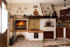 Caminetto Rustico Per Taverna Con Forno Pane E Pizza | fireplace in ...