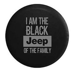 Stealth - Black Jeep of the Family Spare Tire Cover OEM Vinyl Black in… Wrangler Jeep, Jeep Wrangler Tire Covers, Jeep Tire Cover, Cj Jeep, Jeep Mods, Jeep Wrangler Unlimited, Tire Covers For Jeeps, Jeep Covers, Jeep Spare Tire Covers