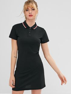 Athletic Dresses, Cute Casual Dresses, Pretty Dresses, Plunge Dress, Straight Dress, Short Styles, Active Wear For Women, Clothes, School Shopping