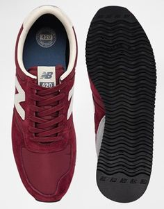 Image 3 of New Balance 420 Burgundy Suede Trainers