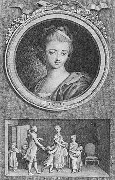 Daniel Chodowiecki, Lotte (Die Leiden des jungen Werther, 1775).