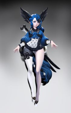 ArtStation - blue hair, Brandon Jeung